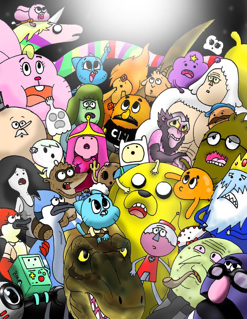 The Amazing Regular Adventure Time Show of Gumball by WaniRamirez