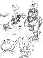 :My 1st The Amazing World of Gumball Drawing: by WaniRamirez