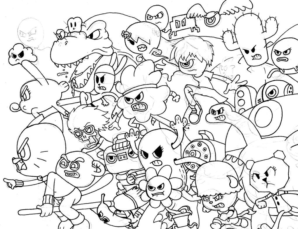 :Crappy Amazing World of Gumball Doodle: by WaniRamirez