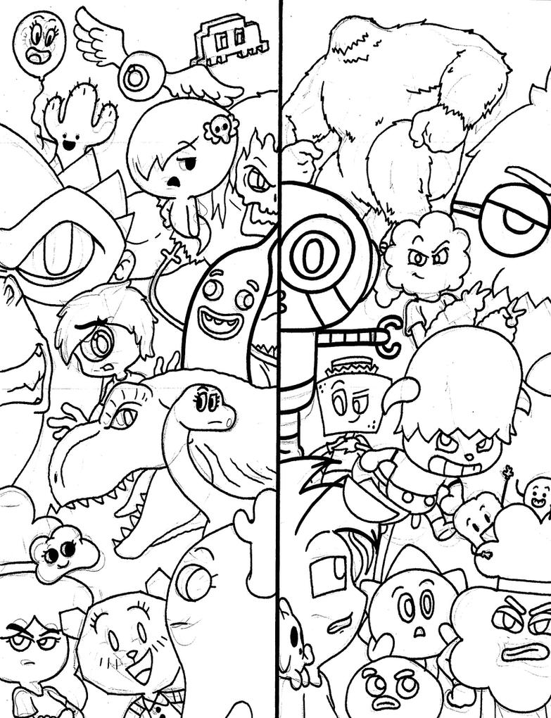 another crappy amazing world of gumball doodle by waniramirez on