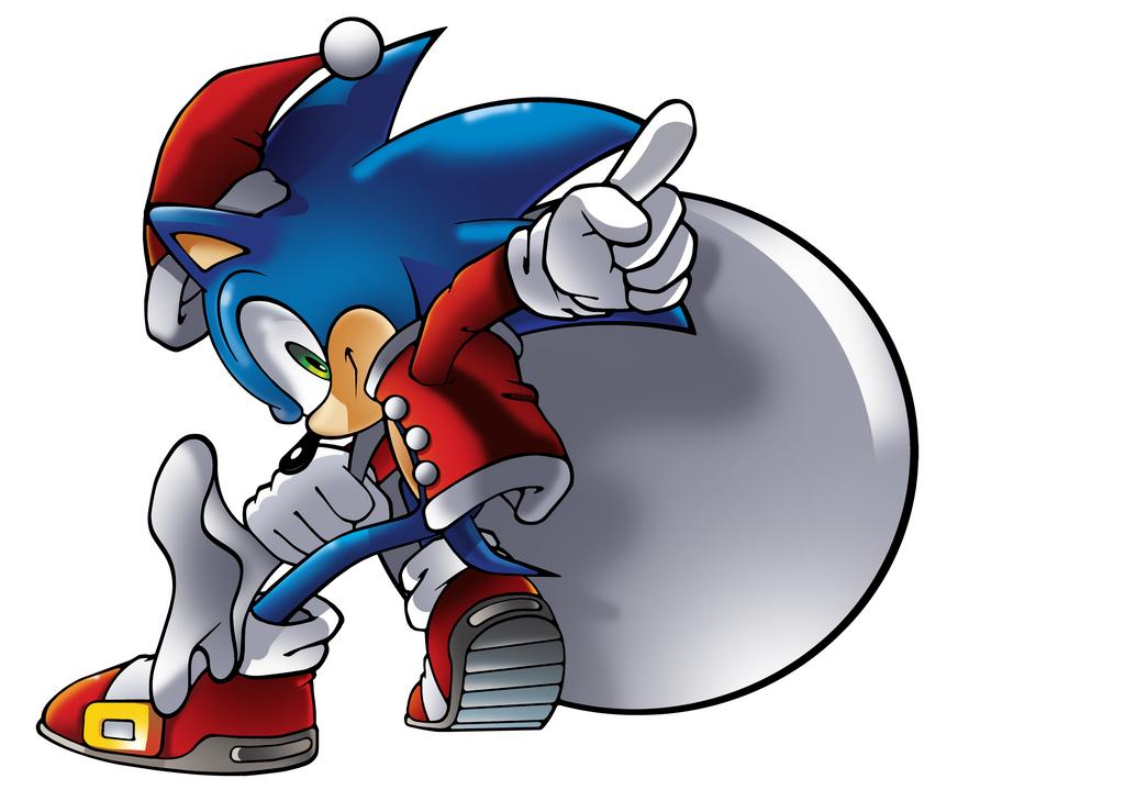 Christmas Sonic by WaniRamirez on DeviantArt