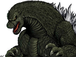 Godzilla by WaniRamirez