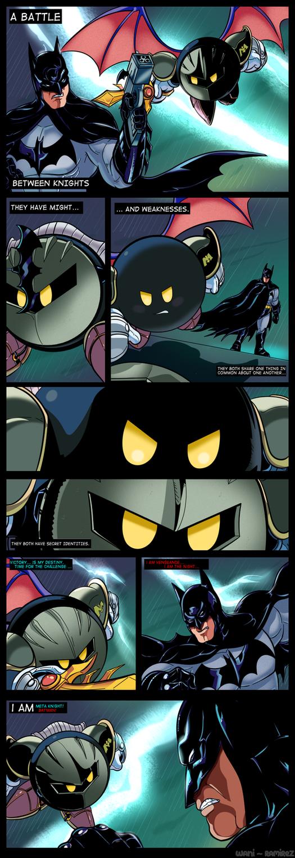 The Dark Knight vs Meta Knight by WaniRamirez on DeviantArt