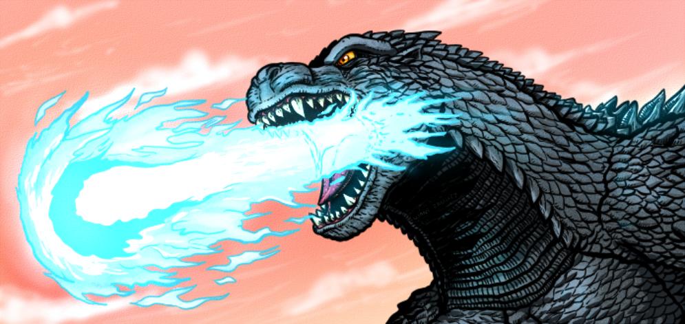 Godzilla's Atomic Breath by WaniRamirez