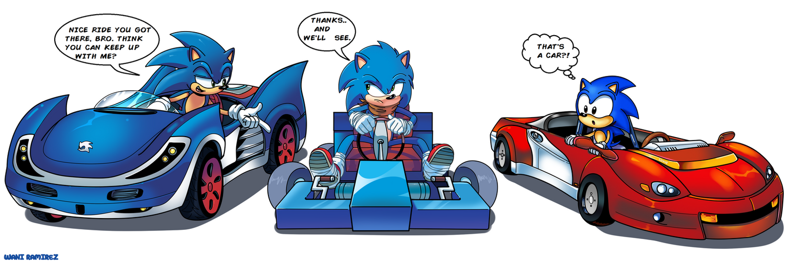 Supah Sanic Racing by WaniRamirez