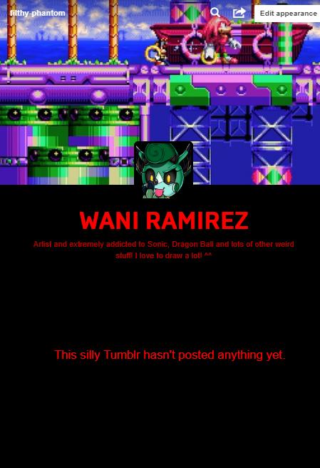 Tumblr blog by WaniRamirez