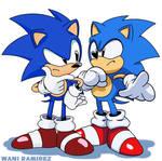 Toei Sonic vs Hesse Sonic by WaniRamirez
