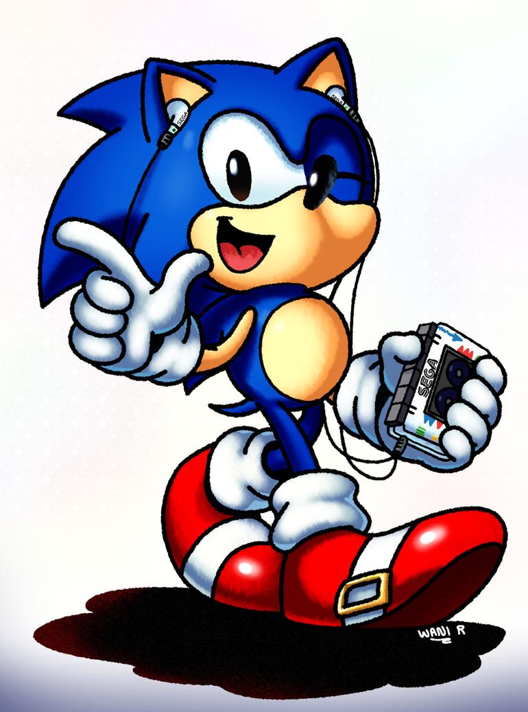 Sonic Cassette by WaniRamirez