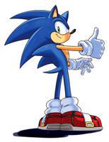 Sonic thumbs up! by WaniRamirez