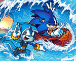 SONIC LEGACY - Sonic and Tempest ridin' the Waves