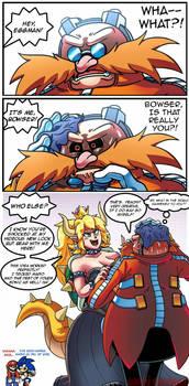Eggman meets Bowsette by WaniRamirez