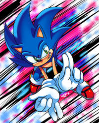 Sonic and the Finger Signs!