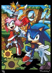 Sonic, Tails and Amy by WaniRamirez