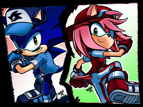 Slugger Sonic and All-Star Amy