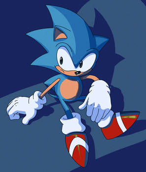 Spaz Sonic from the 90s