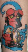 Hellboy tat by SariSariola