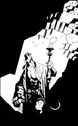 Hellboy by Mike Mignola by SariSariola