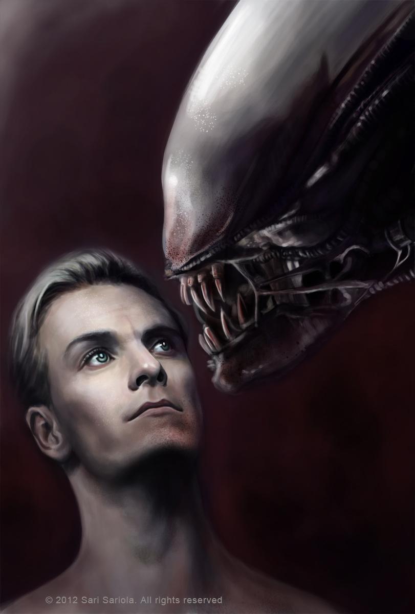 David and the Xenomorph by SariSariola