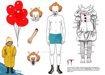 Pennywise paper doll