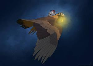 Mongolian eagle hunter