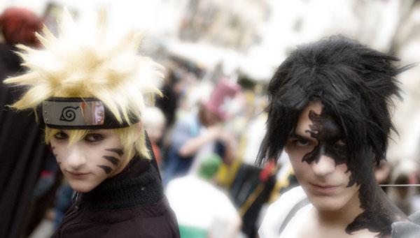 Naruto and Sasuke by Leox90