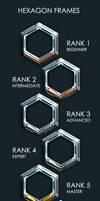 Hexagon Rank Frames