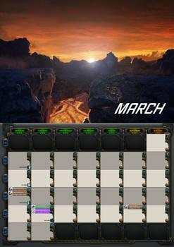 2020 calendar - March