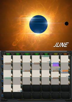 2020 calendar - June