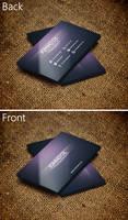 Creative Purple Business Card