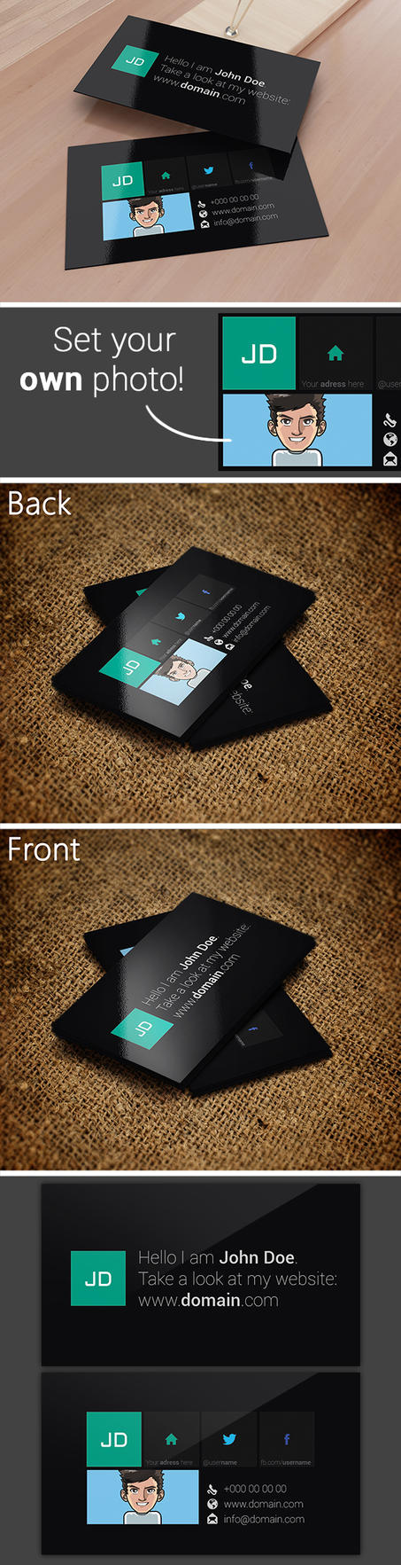 Metro Style Business Card Template by SMHYLMZ
