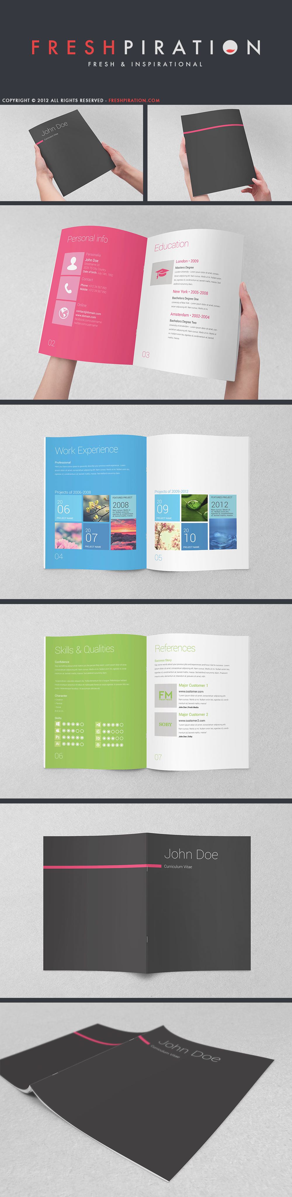 Metro Inspired Clean Resume Booklet (8 Pages) by SMHYLMZ