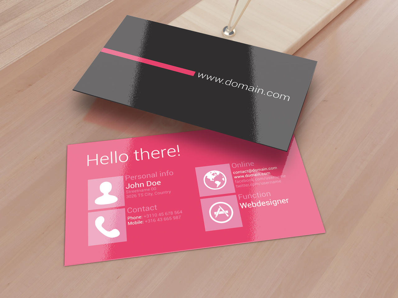 Metro Inspired Clean Business Card