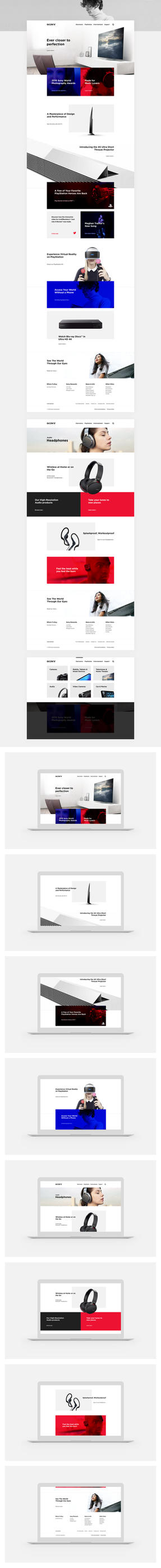 Sony Website Redesign Concept by SMHYLMZ