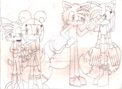 Tainibun and TaiEva by Thunder-the-Mouse
