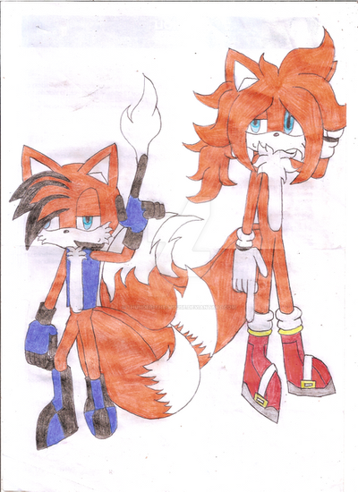Two styles, one fox by Thunder-the-Mouse