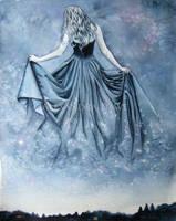 Night and her train of stars by alexandradawe