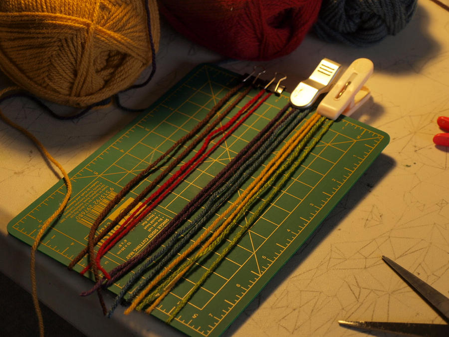 how to make tassels for a scarf