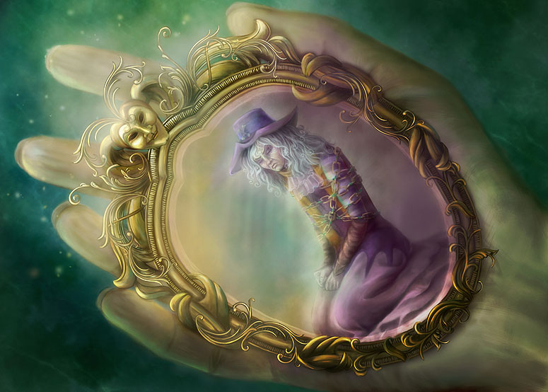 Pocket mirror by folkvangar on deviantart for Miroir magique production