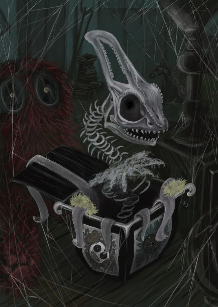 Chameleon in the Box by EerieStir