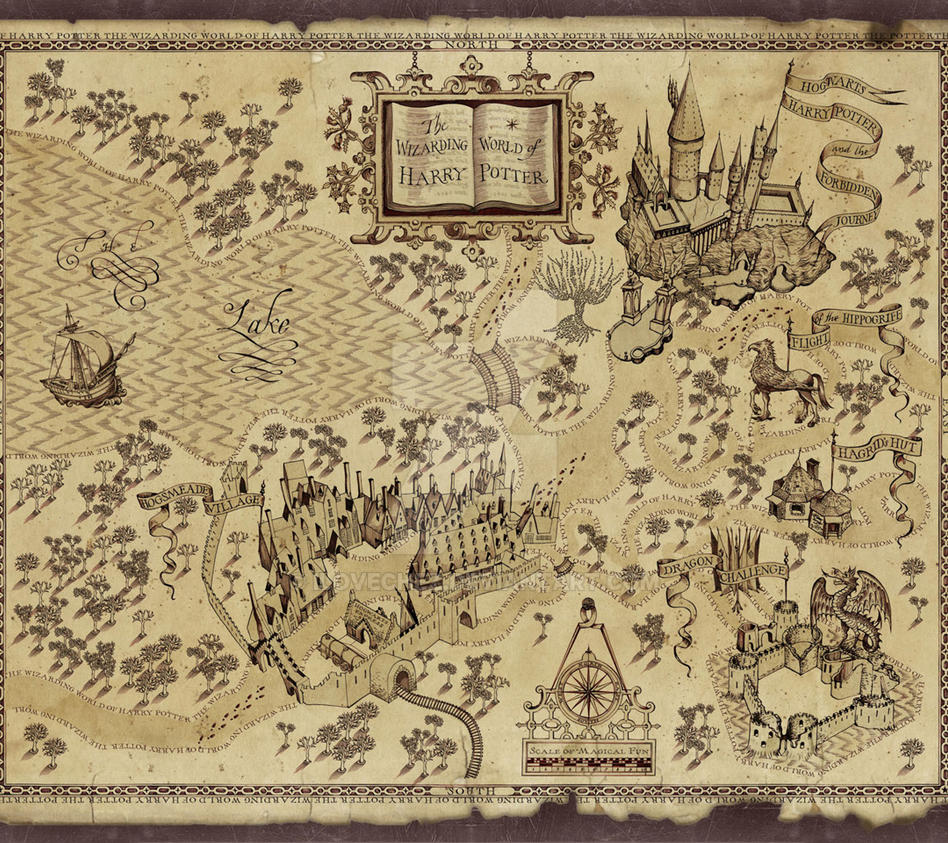 Harry potter s marauders map by ilovechez