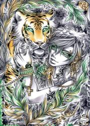 Emerald Stripes by DarkSena