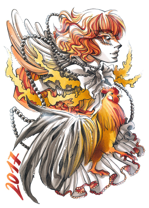 year of the fire rooster by darksena on deviantart