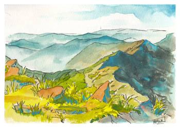 Watercolor Landscape by Marckette