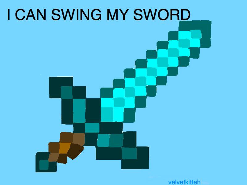 Diamond Sword Minecraft Png Minecraft Diamond Sword