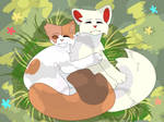 Brightheart and Cloudtail - warrior cats fanart by Flamemuzzle