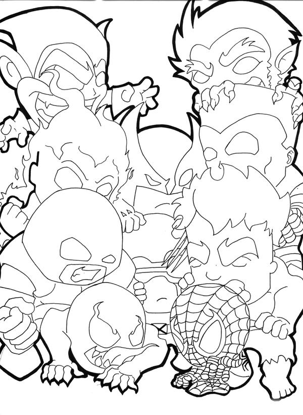 Chibi Avengers Coloring Pages : Chibi marvel free coloring pages