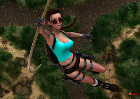 Lara Swings into Action by sodacan