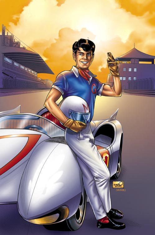 Speed Racer Variant Cover by sharpbrothers