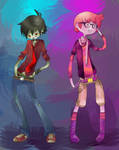 AT: Marshall Lee and Gumball