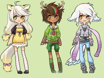 more adoptables [closed] by faycoon